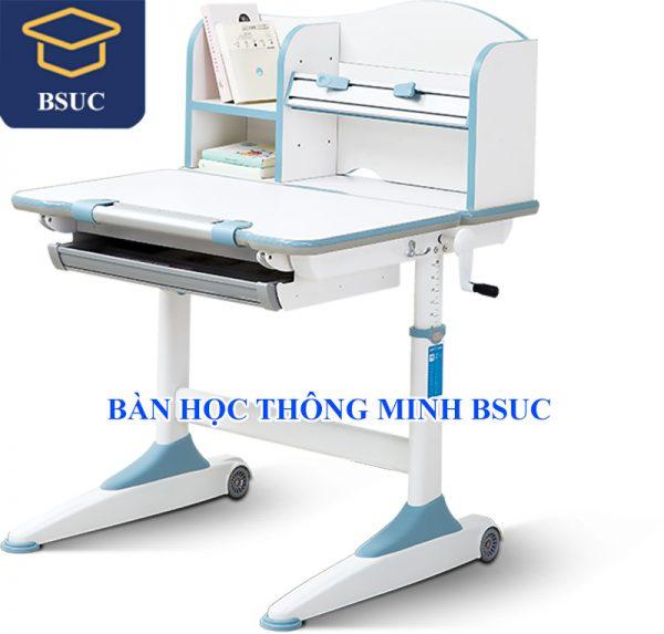 Bàn học thông minh chống gù chống cận cho bé Bsuc 18003 màu xanh
