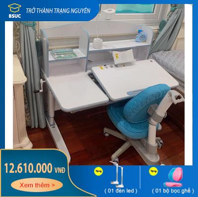 Bộ bàn học thông minh chống gù chống cận 1,2m DRZ-12006 và ghế DRY-502