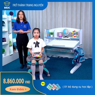 Bàn học trẻ em thông minh BSUC dài 120cm mã DRZ-12006