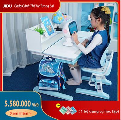 Bộ bàn ghế chống gù trẻ em dài 100cm mã JD-5100 và ghế JD-506