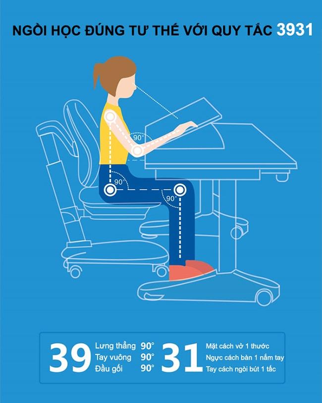 Ghế chống gù trẻ em