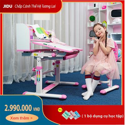 Bộ bàn ghế chống gù chống cận cho bé dài 80cm mã JD-305