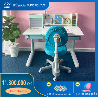 Bộ bàn ghế thông minh cực đẹp cho bé học tập JD-120G và ghế DRY-502