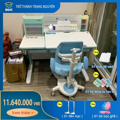 Bộ bàn học sinh thông minh chống gù 1m2 rất đẹp JD-120G và ghế DRY-815